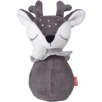 Culbuto en coton bio Faon gris  par Kikadu