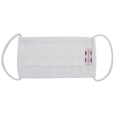 Masque de protection lavable en popeline de coton blanc (7-9 ans)