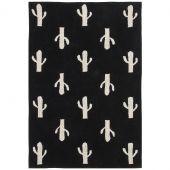 Tapis lavable cactus noir et blanc (140 x 200 cm) - Lorena Canals