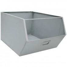 Casier de rangement en métal Pure gris (28 x 36 cm)  par Kids Depot