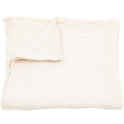 couverture en coton crue 100 x 120 cm mori. Black Bedroom Furniture Sets. Home Design Ideas