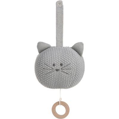Peluche musicale à suspendre tricotée Little Chums chat  par Lässig