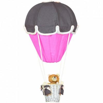 Lampe montgolfière gris foncé et fuchsia Domiva
