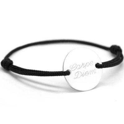 Bracelet cordon homme Le chic personnalisable (argent 925°)  par Petits trésors