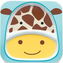 Assiette à compartiments Zoo Girafe  par Skip Hop