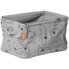 Panier de rangement tiroir Contour gris
