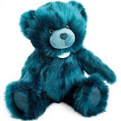 Peluche ours bleu paon La Peluche (40 cm)