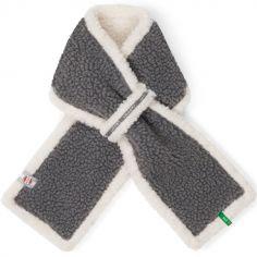 Écharpe grise Teddy (0-12 mois)