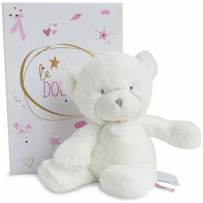 Peluche pantin ours rose Le Doudou (26 cm) Doudou et Compagnie