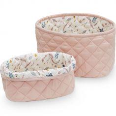 Lot de 2 paniers de toilette Blossom pink
