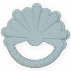 Anneau de dentition en caoutchouc fleur bleu