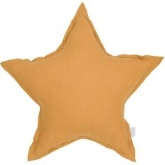 Coussin étoile caramel (45 cm)