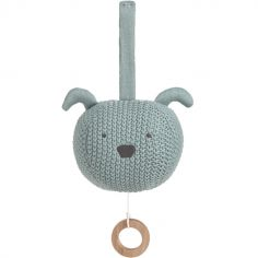 Peluche musicale à suspendre tricotée Little Chums chien