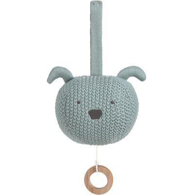 Peluche musicale à suspendre tricotée Little Chums chien  par Lässig