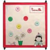 Pêle mêle crème et rouge personnalisable (48 x 48 cm) - Les Griottes