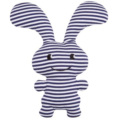 Peluche hochet lapin Funny Bunny marinière (24 cm)  Trousselier