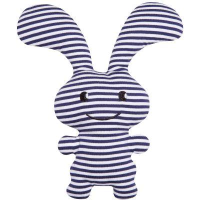 Peluche hochet lapin Funny Bunny marinière (24 cm)