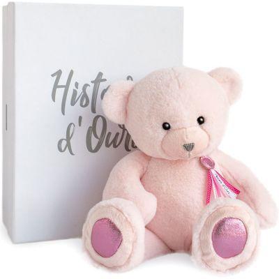 Peluche ours Charms rose poudré (40 cm) Histoire d'Ours