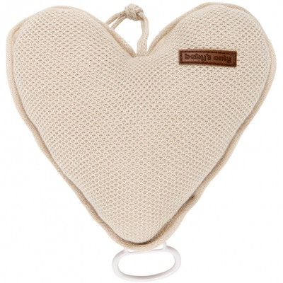 Coussin musical coeur Classic sable (26 cm) Baby's Only