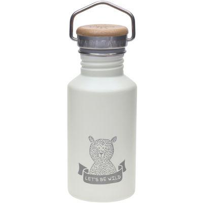 Gourde en inox ours gris Adventure (500 ml)  par Lässig