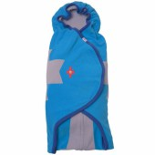 Couverture nomade polaire bleue Wrapper clever (0-12 mois) - Lodger