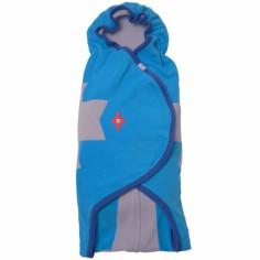 Couverture nomade polaire bleue Wrapper clever (0-12 mois)