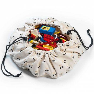Sac à jouets 2 en 1 Mini cerise doré Play&Go