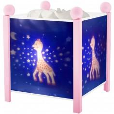 Lanterne magique Sophie la girafe Voie Lactée rose
