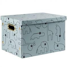 Boîte de rangement pliable Contour bleu