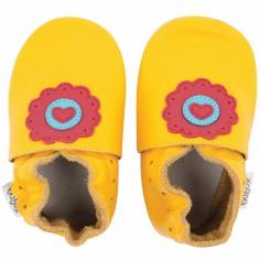 Chaussons en cuir Soft soles jaune dolie (15-21 mois)
