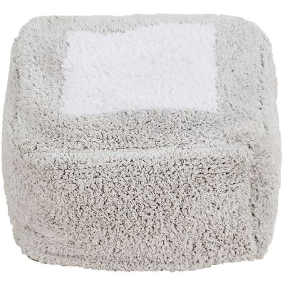 Coussin de sol pouf Marshmallow Square gris  par Lorena Canals