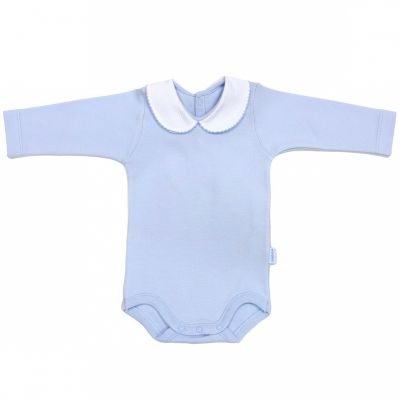 Body col manches longues interlock bleu (6 mois : 68 cm)  par Cambrass