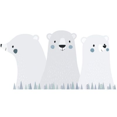 Grand sticker Artic dream ours polaires (46 x 90 cm)  par Lilipinso