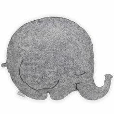 Coussin feutrine éléphant gris (30 x 36,5 cm)