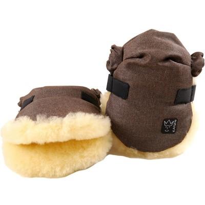 Moufles pour poussette Twoolly mélange marron Kaiser