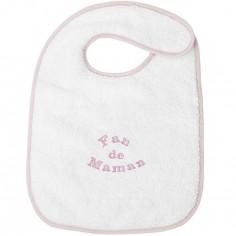 Bavoir à velcro fan de maman rose