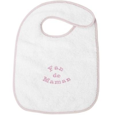 Bavoir à velcro fan de maman rose  par ANVIE