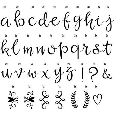 Assortiment de lettres manuscrites pour lightbox  par A Little Lovely Company