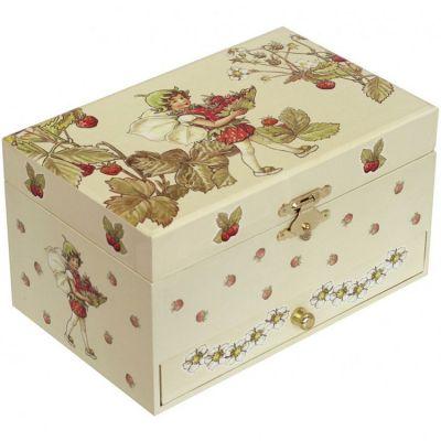 Boîte à bijoux musicale phosphorescente Flower Fairies  par Trousselier