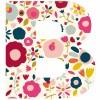 Lettre adhésive B Secret garden by Susan Driscoll - Lilipinso