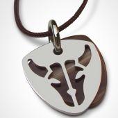 Collier cordon 'Buffalo' (or blanc 750°) - Mikado