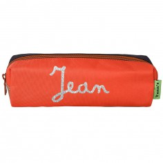 Trousse Tann's personnalisable orange