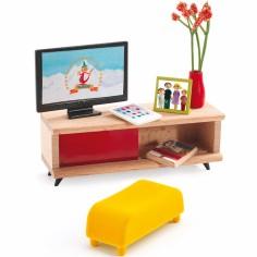 Mobilier pour poupée Le salon télévision