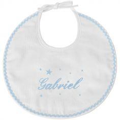 Bavoir de naissance étoile bleu (personnalisable)