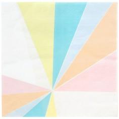 Lot de 20 serviettes en papier Pastel