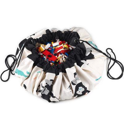 Sac à jouets 2 en 1 réversible Worldmap  par Play&Go