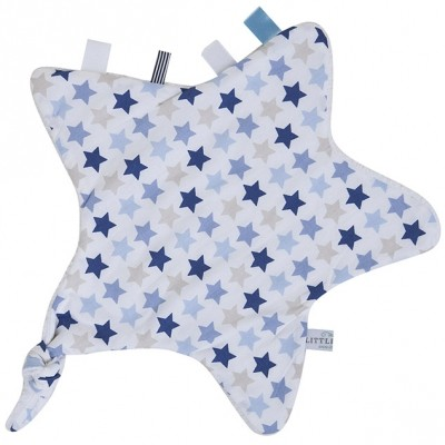 Doudou attache sucette étoile Mixed Stars Blue Little Dutch