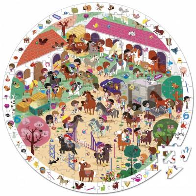 Puzzle d'observation Au galop (208 pièces) Janod