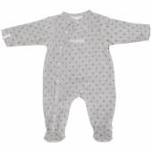 Pyjama chaud fille Poudre d'étoiles gris (9 mois : 74 cm) - Noukie's