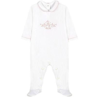 Pyjama léger blanc Feuille de lin (3 mois)  par Tartine et Chocolat